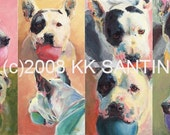 Pit Bull SMALL Giclee, Theresa's Rainbow, Best Friends Animal Sanctuary