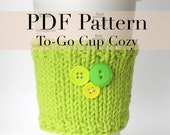 PDF Knitting Pattern - Coffee Cup Cozy / Coffee cup sleeve 2 (with permission to sell finished item)