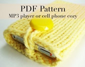 PDF Knitting Pattern - Cotton iPhone case or iPod cover  (with permission to sell finished item)