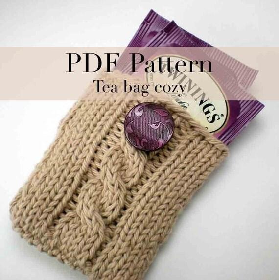 PDF Knitting Pattern Tea Bag Holder by onaroll on Etsy