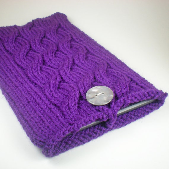 Knitted Kindle Fire case / Kindle Keyboard case / Kindle Fire sleeve / Knitted Kindle cover in Royal Amethyst