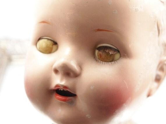 Dolls With Big Heads Big Baby Vintage Doll Head