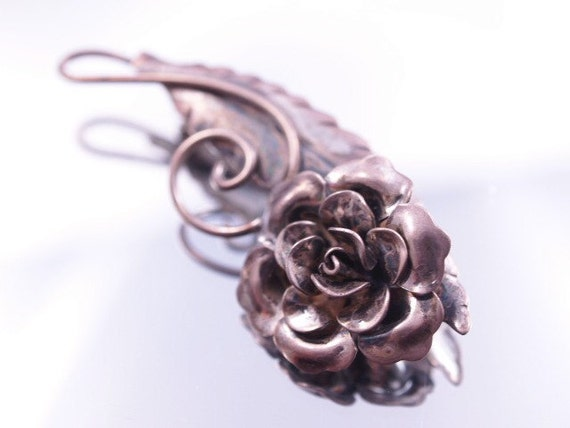 Sterling Rose Brooch by JewelArt Vintage Flower Pin Broach
