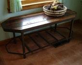 Rustic Steel And Repurposed Wood Hall Table