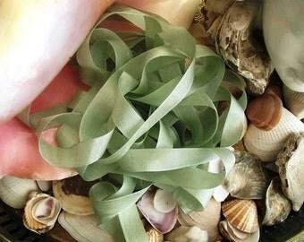 Vintage- Seam Binding -Light Moss-Ribbon-Silky