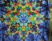 "Kaleidoscope Tie Dye Tapestry - Wall Hanging, size is 58"" X 46""  Ready To Ship Now. Original Handmade Tie Dye"