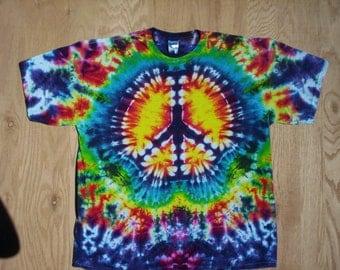 Peace Sign Tie Dye Size 4X