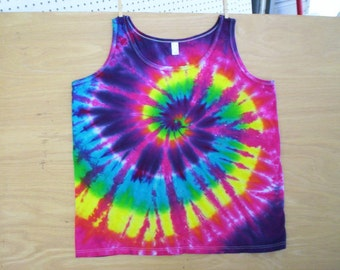 Beautiful Rainbow Tie Dye Tank Ladies Size 2X