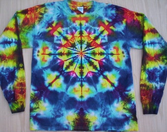 Stained Glass Tie Dye Long Sleeve XL