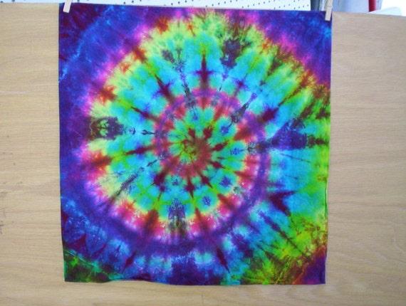 Soft Spiral Tie Dye Bandanna