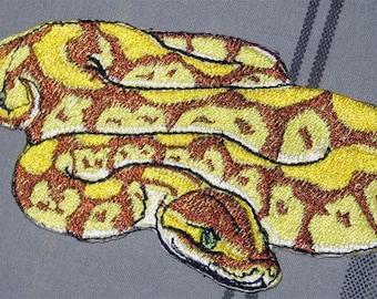 "Awesome Royal Pastel Ball Python  Snake ""Python regius"" Serpent  Pet  Iron on Patch"