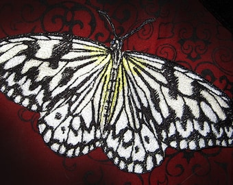 Lovely life Sized  Paper Kite Butterfly  Idea leuconoe Insect  Steam Punk Iron on Patch