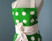 Lucky Dots Full Apron with IKEA Fabric for Women