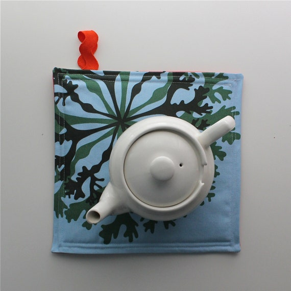 Weird Scenes Pot Holder with IKEA Fabric