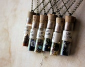 RESERVED | The Alchemist : Finding No. 122. Vintage Vial Pendant Necklace.