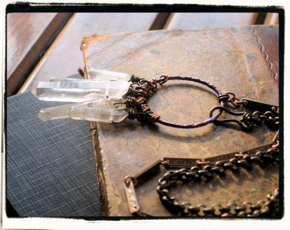 Zadkiel Cavern. Quartz Crystal Necklace.