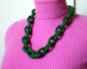 Emerald Green Chain Link Necklace