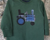 Boys Personalized Tractor Applique T-shirt