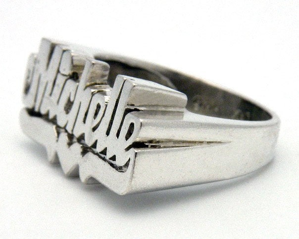 Michelle Name Ring In Sterling Silver