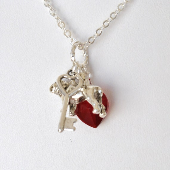 A Marine Holds the Key to My Heart Necklace