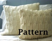 Chain Link Cable Knit Wool Pillow Sham Pattern Instant PDF Download