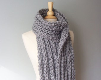 Monterey Chunky Scarf- Gray