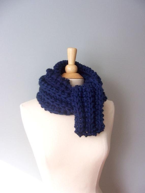 Knit Scarf Pattern- Chunky Scarf Pattern- Easy Knit Pattern- Womens Scarf Pat...