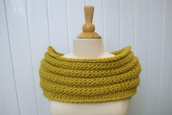 Beehive Knitting Wool Holder : Handmade knit mustard chunky beehive cowl caplet