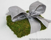 Moss Covered WEDDING Ring Bearer Pillow