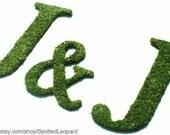 Moss Coverd Letters Wedding Set Monogram (SET OF 3)