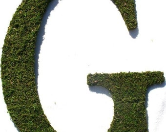 Moss covered 12 Inch Letter Initial Monogram G