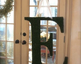 Moss Covered Letter Initial Monogram 36 Inch
