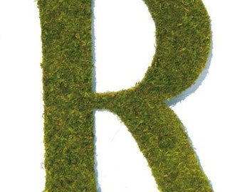 Country French Large 24 inch Moss covered initial monogram