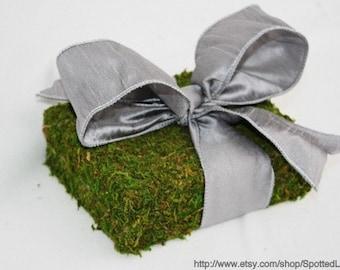 Moss Covered WEDDING Ring Bearer Pillow