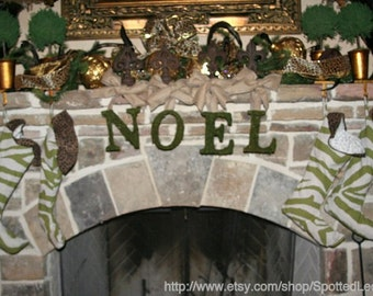 Moss Covered 6 inch Letters Christmas Wreath NOEL