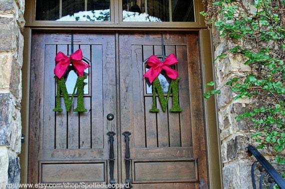 Moss Wedding Letters 14 Inch SET OF 2 Church Door Initial