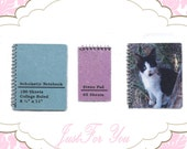 Miniature Spiral Bound Notebook/Steno Pad 3pc set- 1 inch scale