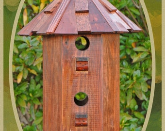Song Birdhouse Shake and Stain