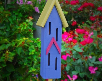 Garden Decor, Butterfly Houses, Handmade Gifts, Painted Butterfly House, Father's Day Gifts