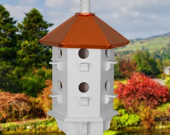 Purple Martin Birdhouse, Copper Roof Birdhouses, Painted Bird Houses, Executive Gifts, Handcrafted Bird Houses