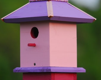 Birdhouse, Painted Bird Houses, Bird house for Sale, Gifts for Dad