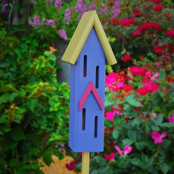 Garden Decor, Butterfly Houses, Handmade Gifts, Painted Butterfly House