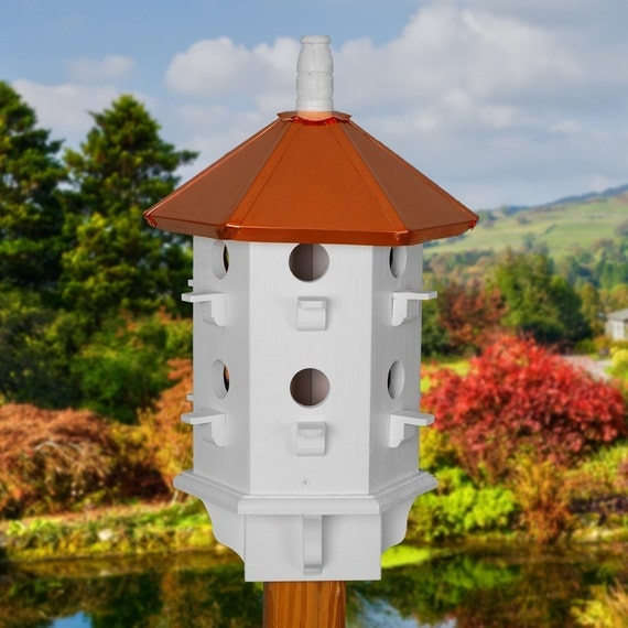 Purple Martin Birdhouse Copper Roof Birdhouses Painted Bird