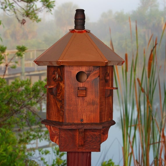 Rustic Bird House Decorative Finch Wooden Birdhouse Farmhouse