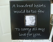 Personalized Wedding Photo Frame, A hundred hearts, Love Quote, Anniversary, Inspirational, Gift for Bride, Gift for Groom