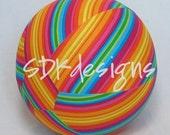 Balloon Ball - Bright Fun Rainbow Stripes fabric - Great Birthday gift or party decor