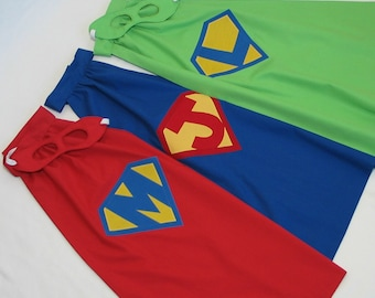 Personalized SuperHero Cape and Mask - Great Birthday Present or Halloween Costume