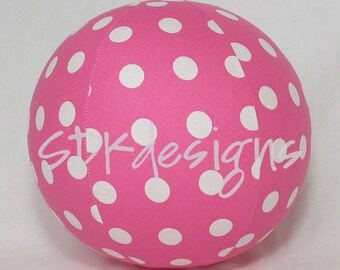 Balloon Ball TOY - Pink Large Polka Dots - Great Birthday gift, party favor or Party Decoration
