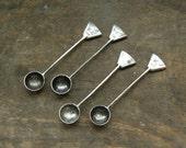 Sterling Silver Salt Spoons: Set of 4,