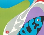 Discounted! 1969 Original Vintage Zodiac Poster - Pisces
